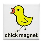 Chick Magnet Tile Coaster