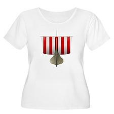 Viking Ship Plus Size T-Shirt