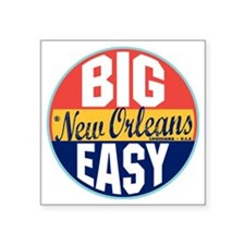 "New Orleans Vintage Label W Square Sticker 3"" x 3"""