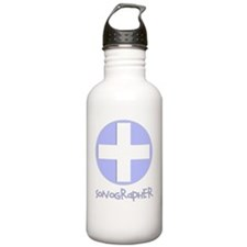 sonographer blue Water Bottle