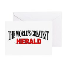 """""""The World's Greatest Herald"""" Greeting Cards (Pack"""