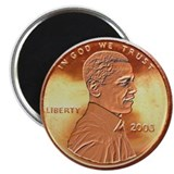 Obama Penny Magnet