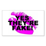 Yes They're Fake! Lipprint Rectangle Decal