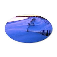 January Beach 015 35x21 Oval Wall Decal