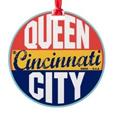 Cincinnati Vintage Label W Ornament