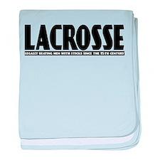 Lacrosse Beating People baby blanket