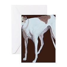 SQ Greyhound Greeting Card