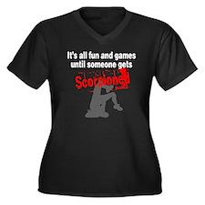 Until Someon Women's Plus Size Dark V-Neck T-Shirt