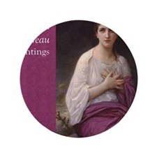 "Bouguereau Paintings Wall Calendar cov 3.5"" Button"