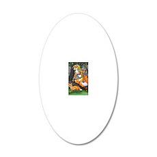 Summon fox 8x10 20x12 Oval Wall Decal
