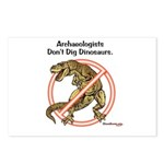 Archaeologists Don't Dig Dinosaurs Postcards (Pack