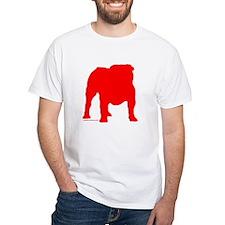 Red Bulldog Silhoutte Shirt