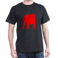 Red Bulldog Silhoutte T-Shirt