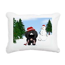 Newfie2Jan Rectangular Canvas Pillow