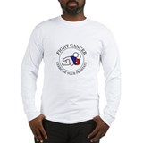 Fight Cancer White Long Sleeve T-Shirt