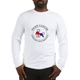 Fight Cancer Doggie Long Sleeve T-Shirt