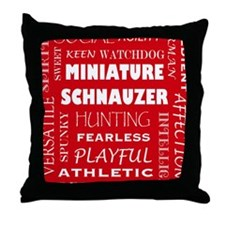 MINIATURE SCHNAUZER_edited-1 Throw Pillow