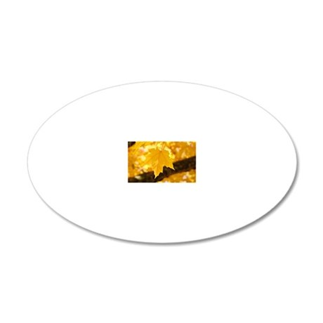 Autumn Leaves 53 Yellow Gold 20x12 Oval Wall Decal