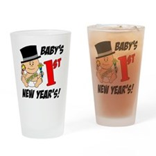 Babys First New Years Drinking Glass