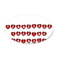 TENNESSEE TREEING BRINDLE Oval Car Magnet