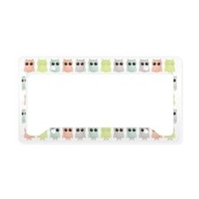 owlets_pattern_clutch License Plate Holder