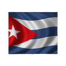 cuba_flag1 Throw Blanket