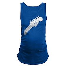 guitar headstockwht2 Maternity Tank Top