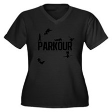 parkour4 Women's Plus Size Dark V-Neck T-Shirt