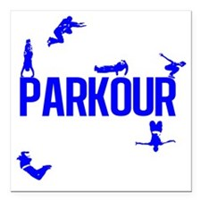 "parkour4-4 Square Car Magnet 3"" x 3"""