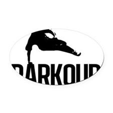parkour1 Oval Car Magnet