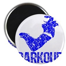 parkour distressed blue Magnet