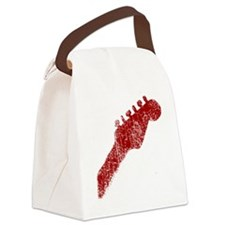 guitar headstock red1 Canvas Lunch Bag