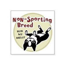 "bostonnonsportingred2 Square Sticker 3"" x 3"""