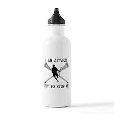 Lacrosse Attackman Sports Water Bottle