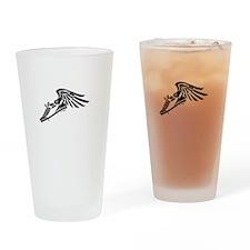 Athletes Run White Drinking Glass