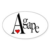 Agape Oval Decal