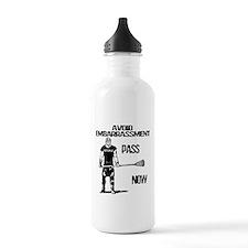 Lacrosse Defense Pass Water Bottle