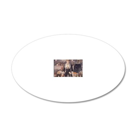 Bar at the Folies Bergere 20x12 Oval Wall Decal