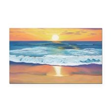 Marine Street Sunset a shirt Rectangle Car Magnet