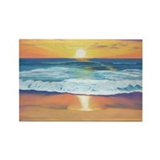 Marine Street Sunset a shirt Rectangle Magnet