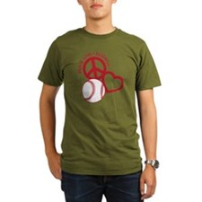P,L,Baseball, red T-Shirt