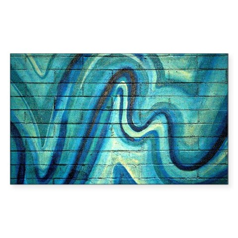 Ice on a Brick Wall Decal