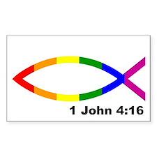 Jesus fish bumper sticker