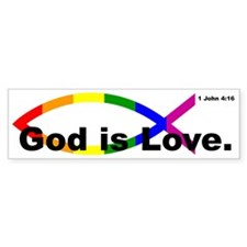 """God is Love"" bumper sticker"