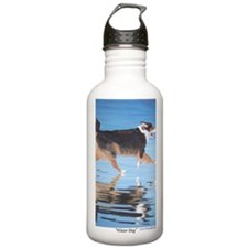 Water Dog card a shirt Sports Water Bottle