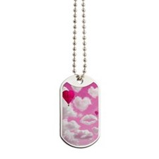 556 Heart Clouds for Cafe Press c Dog Tags