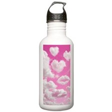 556 Heart Clouds for C Water Bottle