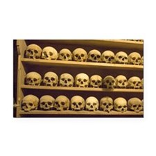 Meteora. Skulls of monastics  Rectangle Car Magnet