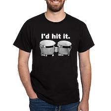 Bongo Drum I'd Hit It Black T-Shirt