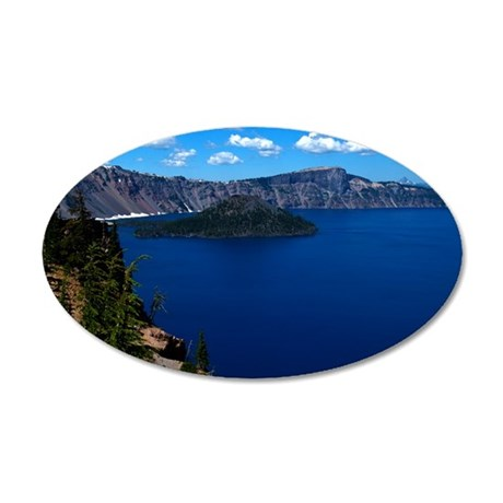 (11) Crater Lake  Wizard Isl 35x21 Oval Wall Decal